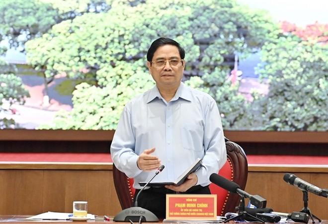 팜 민 찐 총리, 하노이시에 코로나-19 우선 대응 요구 - ảnh 1