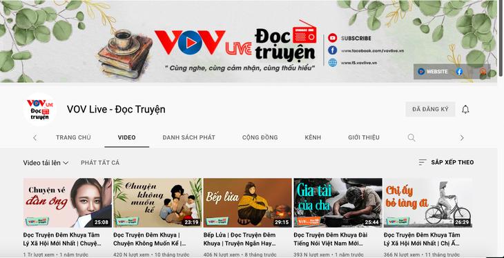 VOV 스토리텔링 유튜브 채널, 구독자 꾸준히 증가 - ảnh 2
