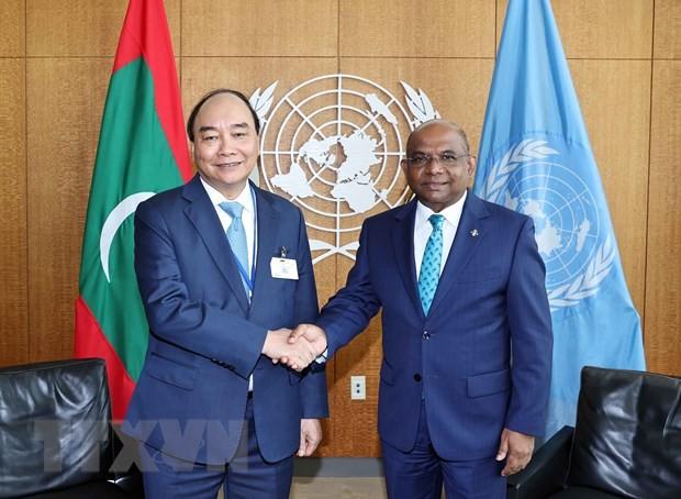 응우옌 쑤언 푹 국가주석, 유엔총희 의장 및 유엔 사무총장 면담 - ảnh 1