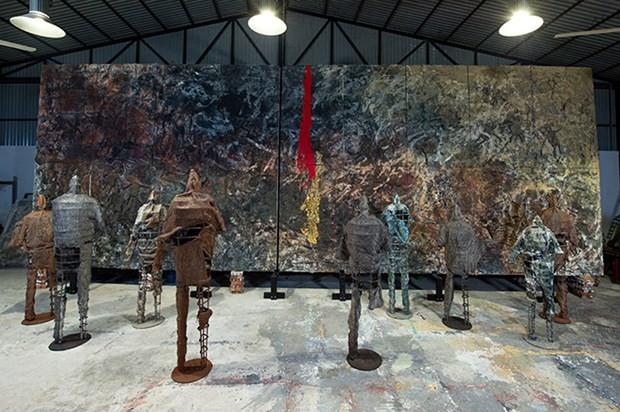 이탈리아서 첫 베트남 예술가 개인 전시회 개최 - ảnh 1