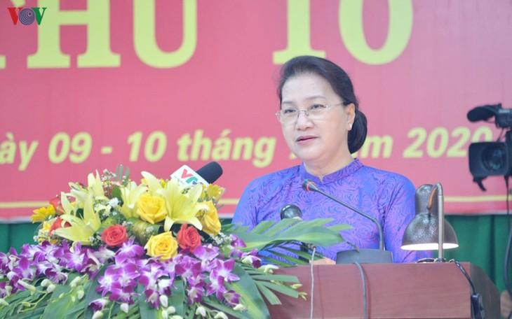 ប្រធានរដ្ឋសភា លោកស្រី Nguyen Thi Kim Ngan អញ្ជើញចូលរួមសម័យប្រជុំលើកទី ១០ នៃក្រុមប្រឹក្សាប្រជាជនខេត្ត Dak Nong - ảnh 1