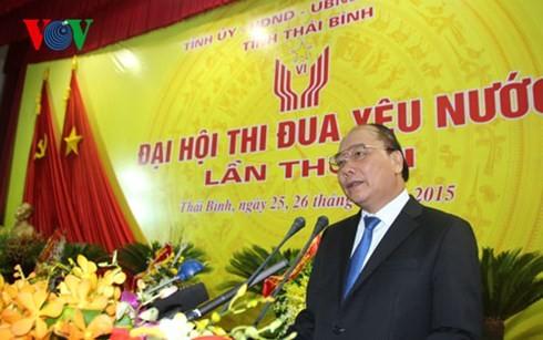 ឧបនាយករដ្ឋមន្ត្រី លោក Nguyen Xuan Phuc ចូលរួមមហាសន្និបាតការប្រឡងប្រណាំងស្នេហាជាតិខេត្ត Thai Binh - ảnh 1