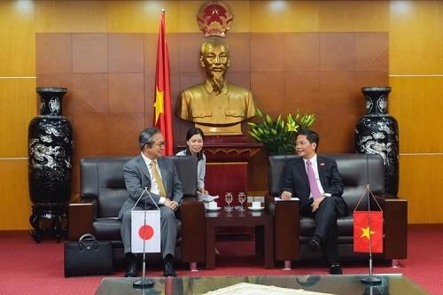 Menteri Industri dan Perdagangan Vietnam melakukan temu kerja dengan Duta Besar Luar Biasa dan Berkuasa Penuh Jepang yang baru - ảnh 1