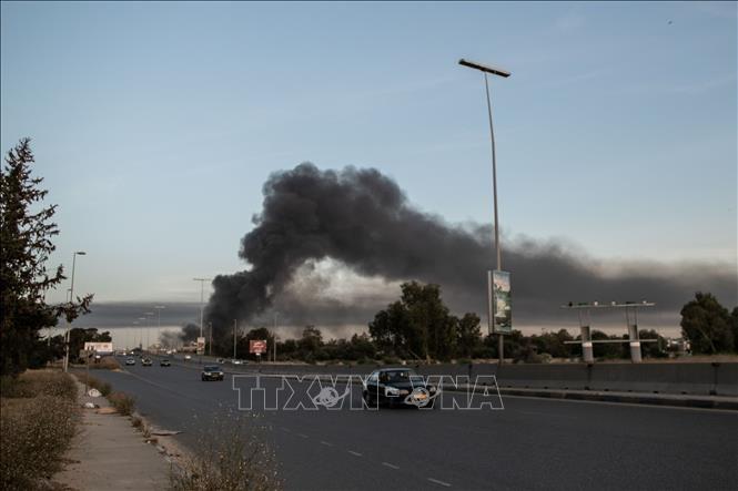 Presiden AS berseru supaya melakukan deeskalasi bentrokan di Liba - ảnh 1