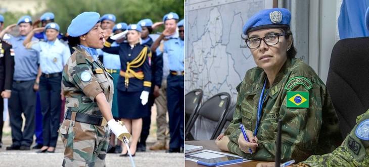 PBB memberikan hadiah kepada dua prajurit perempuan dalam pasukan penjaga perdamaian  - ảnh 1