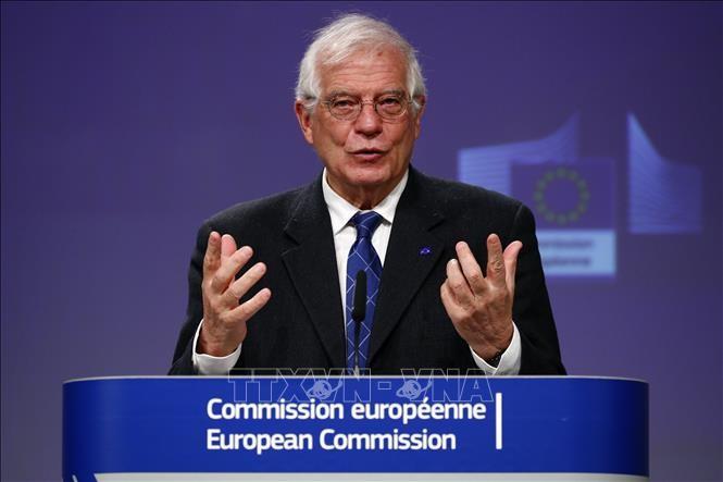 Uni Eropa memprotes AS yang menghentikan hak kekebalan sanksi dalam permufakatan nuklir Iran - ảnh 1