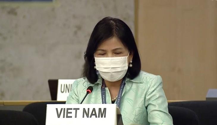 Dewan HAM PBB membahas hak kaum difabel  dengan latar belakang perubahan iklim - ảnh 1