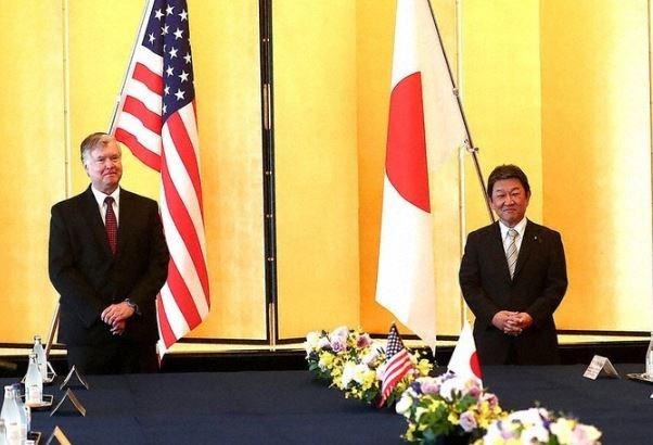 Menlu Jepang menemui Utusan AS untuk membahas situasi Semenanjung Korea - ảnh 1