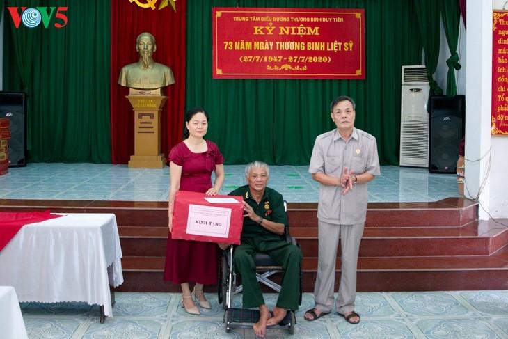 Pusat perawatan prajurit penyandang disabilitas Duy Tien – tempat yang meredakan penderitaan akibat perang  - ảnh 8