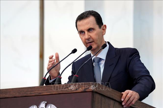 Presiden Suriah memberikan pidato yang pertama di depan Parlemen angkatan baru, menuduh sanksi-sanksi AS - ảnh 1