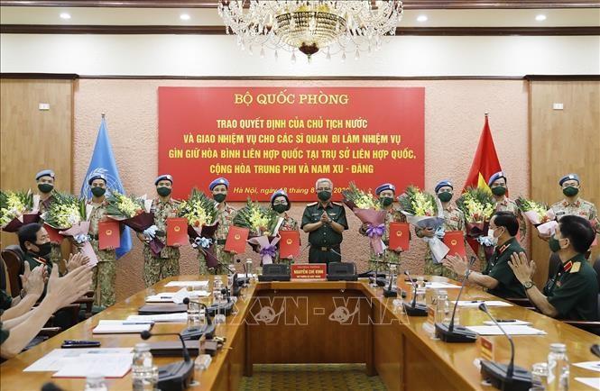 Ada lagi 10 perwira Vietnam yang ikut serta pada pasukan penjaga perdamaian PBB - ảnh 1
