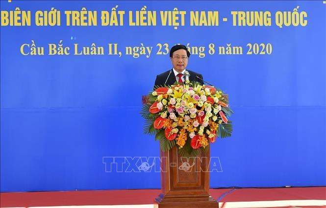 Membawa hubungan kemitraan dan kerjasama yang strategis dan komprehensif Vietnam-Tiongkok menjadi intensif  - ảnh 1