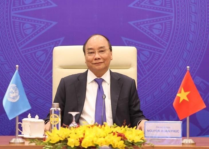 PM Nguyen Xuan Phuc Hadiri Acara Online Pembahasan Tingkat Tinggi Terbuka DK PBB - ảnh 1