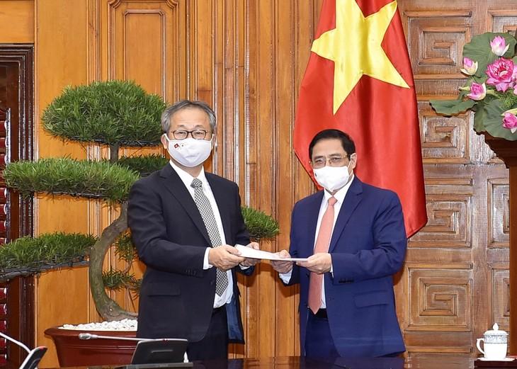 PM Pham Minh Chinh Terima Dubes Jepang di Vietnam, Yamada Takio - ảnh 1
