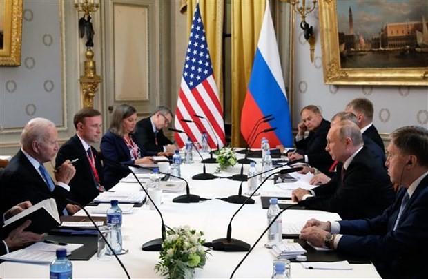 Istana Kremlin: AS Tetap Berupaya Tahan Rusia setelah Pertemuan Puncak Bilateral - ảnh 1