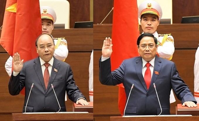 Telegram Ucapan Selamat dari Pimpinan Laos dan Tiongkok kepada Pimpinan Senior Vietnam - ảnh 1