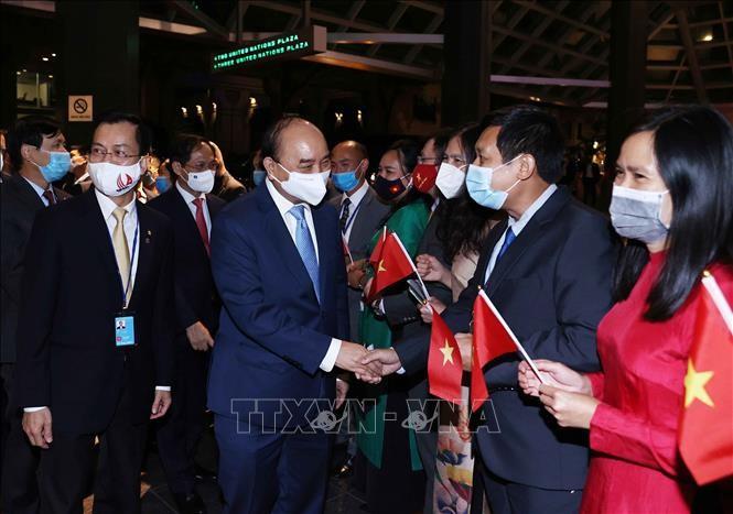 Presiden Nguyen Xuan Phuc Tiba di AS, Mulai Program Hadiri MU PBB - ảnh 1