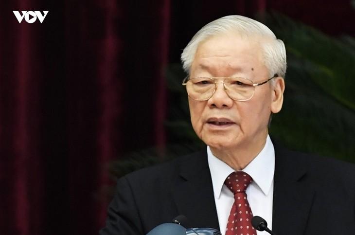 Sekjen Nguyen Phu Trong: Berupaya Kendalikan Wabah untuk Pulihkan dan Kembangkan Sosial-Ekonomi - ảnh 1