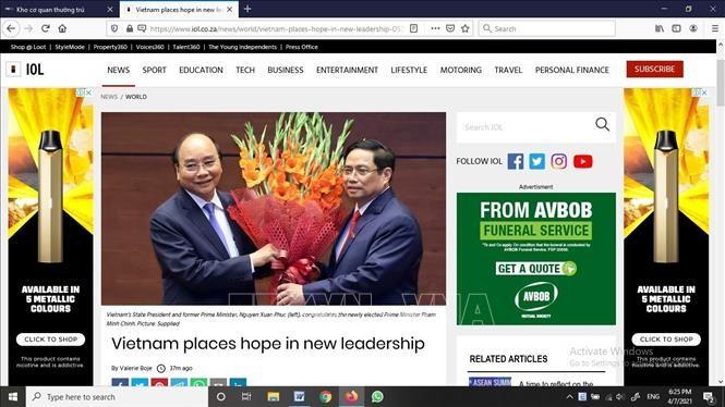 Koran Afrika Selatan Apresiasi Generasi Pimpinan Baru Vietnam - ảnh 1