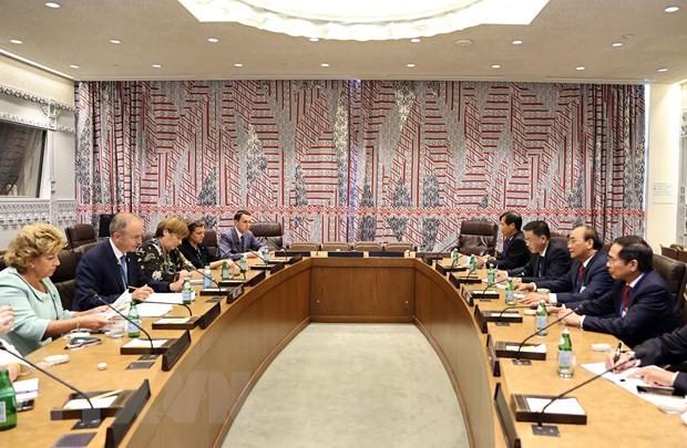 Presiden Nguyen Xuan Phuc Bertemu Dengan Para Pemimpin Negara dan Organisasi Internasional - ảnh 1