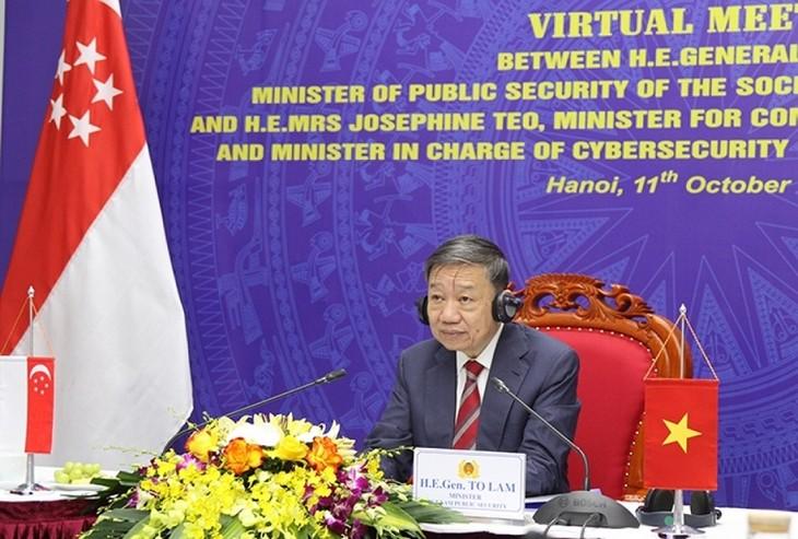 Vietnam dan Singapura Perkuat Kerja Sama Keamanan Siber - ảnh 1