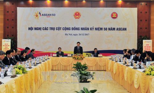 2017年 越南积极参加建设东盟共同体各个支柱 - ảnh 1