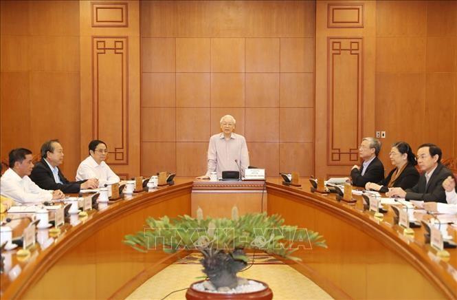 越共中央总书记、国家主席阮富仲主持战略级干部规划制定指导委员会会议 - ảnh 1