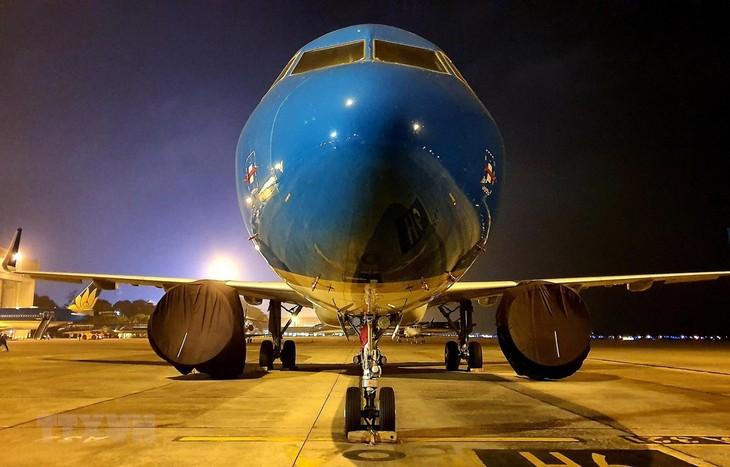 越南航空公司运送在日本的越南公民回国 - ảnh 1