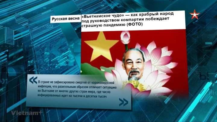 越南防控新冠肺炎疫情出现在俄罗斯脱口秀节目中 - ảnh 1