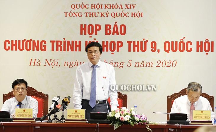 越南第14届国会第9次会议议程新闻发布会举行 - ảnh 1