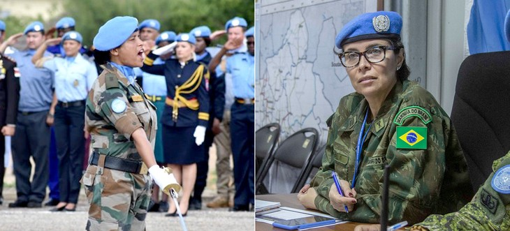 联合国向两名女维和军人颁奖 - ảnh 1