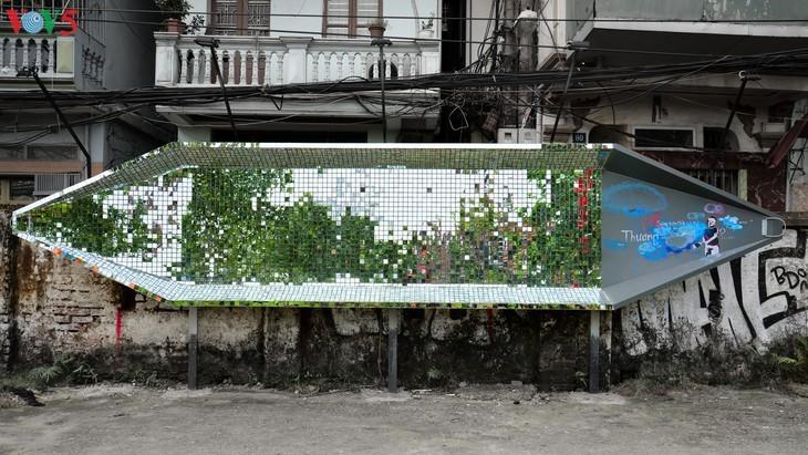 传递环保信息的红河岸边艺术之路 - ảnh 1