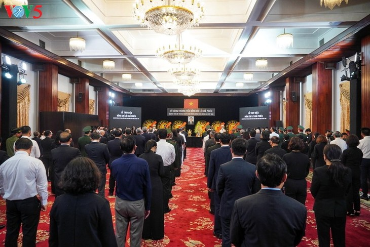 原越共中央总书记黎可漂追悼会和安葬仪式隆重举行 - ảnh 1