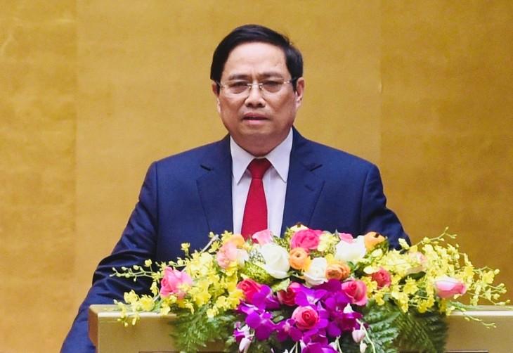 越南国会选举范明正为政府总理 - ảnh 1