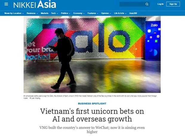 """日本媒体对越南第一个""""独角兽""""的技术予以高度评价 - ảnh 1"""