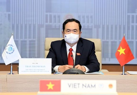 越南国会代表团出席IPU执行委员会第207次会议开幕式 - ảnh 1