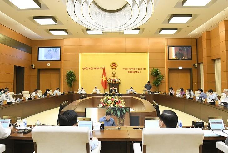 越南国会常委会会议就2021至2025年阶段重组经济结构计划提供意见 - ảnh 1