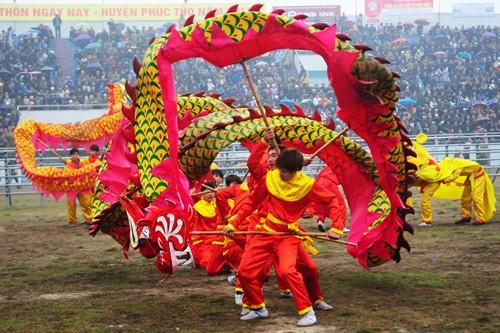 First buffalo fighting festival in Hanoi  - ảnh 2