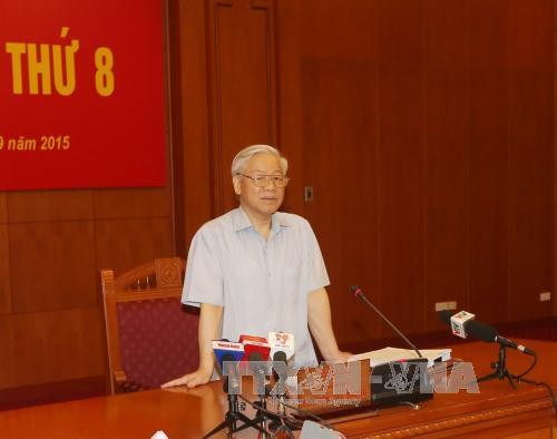 Party General Secretary chairs meeting on corruption and prevention - ảnh 1