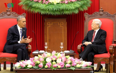 Day one: US President Barack Obama's visit to Vietnam  - ảnh 4
