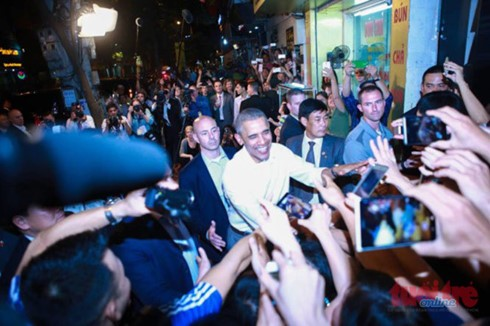 Day one: US President Barack Obama's visit to Vietnam  - ảnh 12