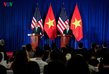 Day one: US President Barack Obama's visit to Vietnam  - ảnh 9