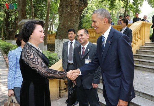 Day one: US President Barack Obama's visit to Vietnam  - ảnh 6