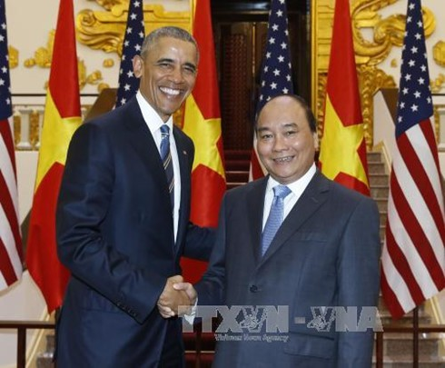 Day one: US President Barack Obama's visit to Vietnam  - ảnh 5