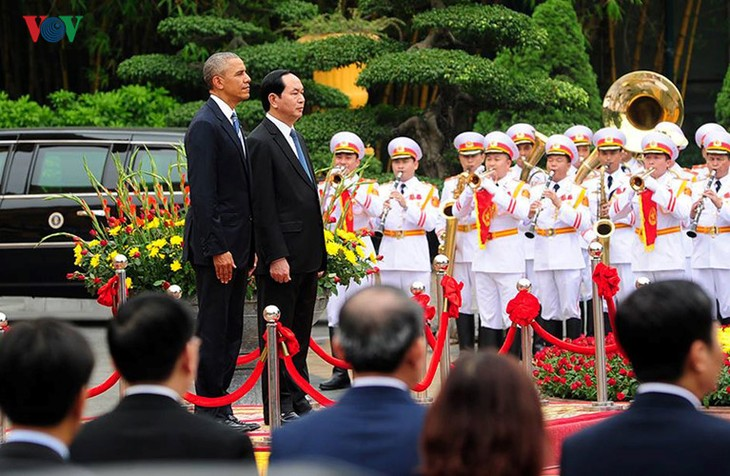 Day one: US President Barack Obama's visit to Vietnam  - ảnh 2