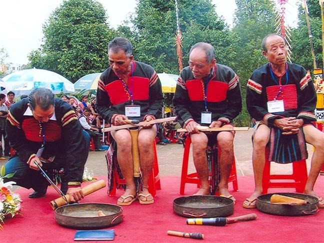 Bamboo gong, a special instrument of the Ede - ảnh 2
