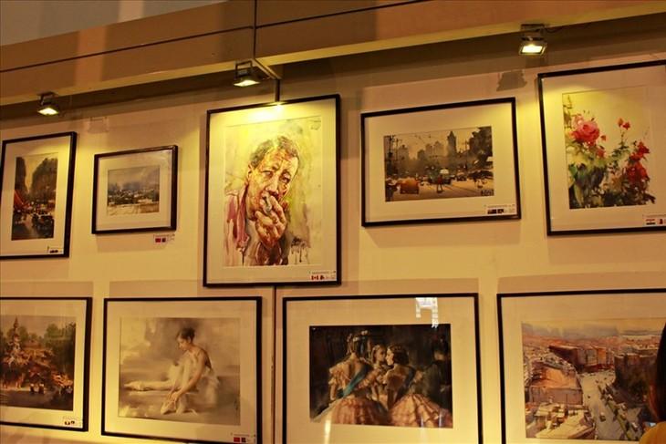 International watercolor exhibition opens in Hanoi - ảnh 1