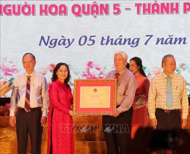 Hoa people's Nguyen Tieu Festival recognised as national intangible heritage - ảnh 1