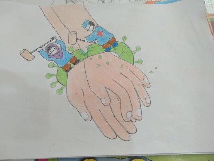 Painting contest themed Summer Dreams during COVID-19 - ảnh 1