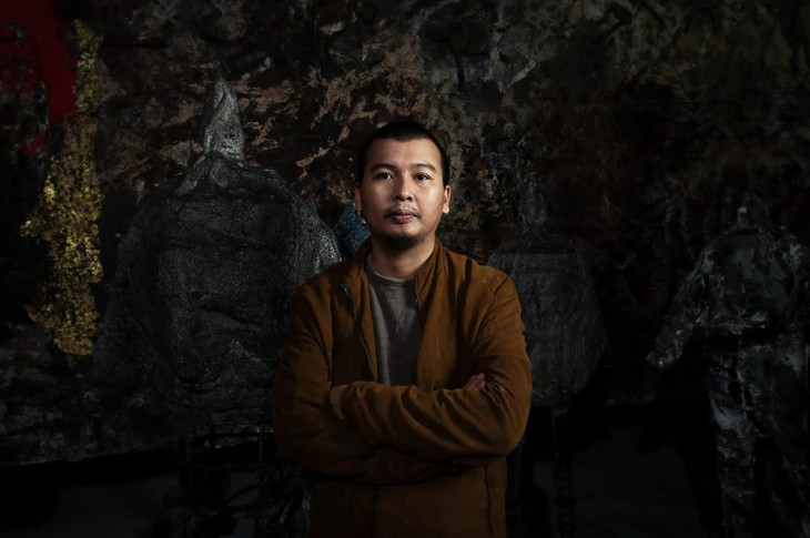 Vietnamese painter holds first solo exhibition in Italy - ảnh 1